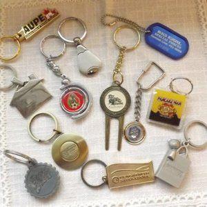 12 Miscellaneous Vintage Advertisement Key Chains